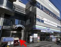 等々力商店街提携駐車場から、当院までの来院方法